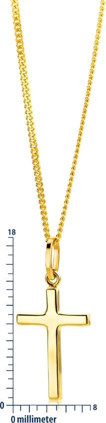 Majestine 9 Karaat Collier Geelgoudkleurig (375) met Kruis – Lengte 45cm - Majestine-joaillerie