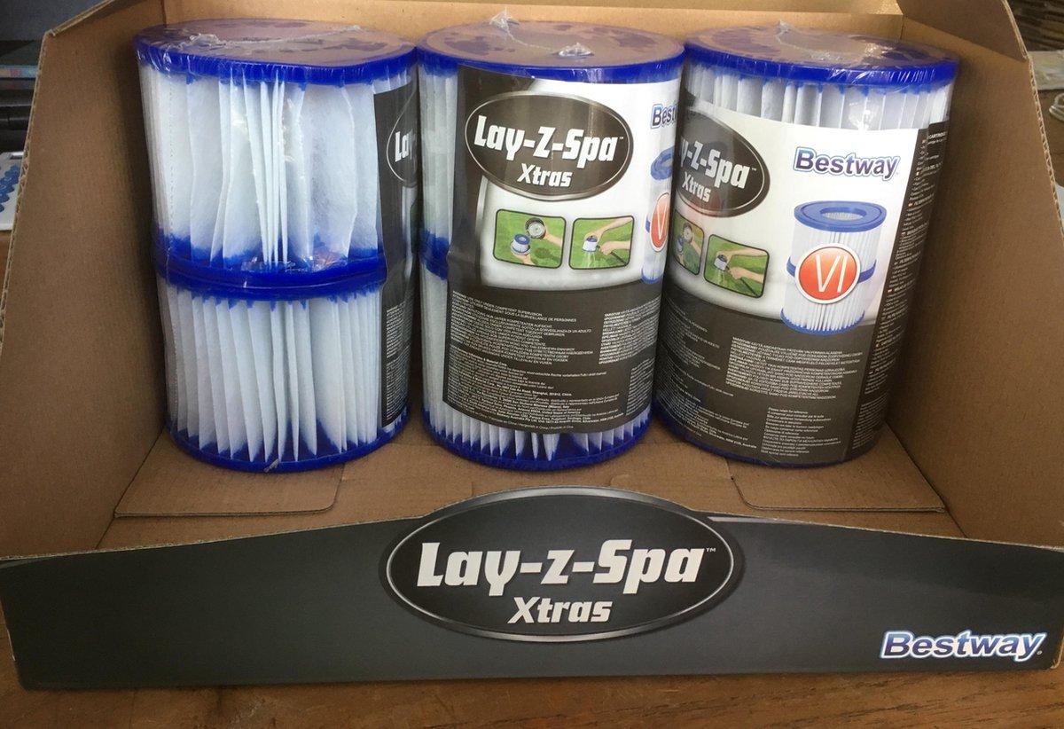 Cartridgefilter Bestway type VI (Lay-Z-Spa) six pack