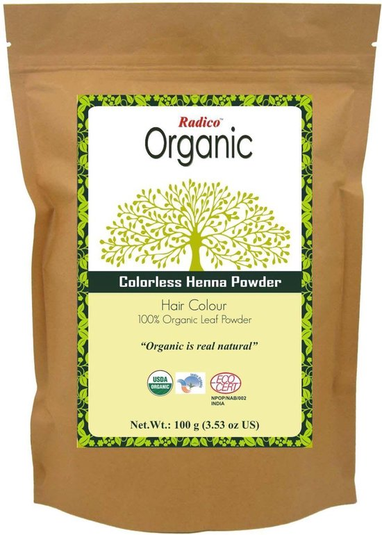 Radico Organic Colorless Henna Powder Haarverf - 100 gram