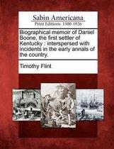 Omslag Biographical Memoir of Daniel Boone, the First Settler of Kentucky