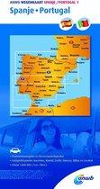 ANWB Wegenkaart 1. Spanje/Portugal
