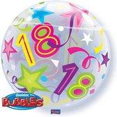 Qualatex - Folieballon - Bubbles - 18 Jaar - Zonder vulling - 56cm