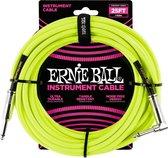Ernie Ball - Jack/jack haaks - 7,62m geel