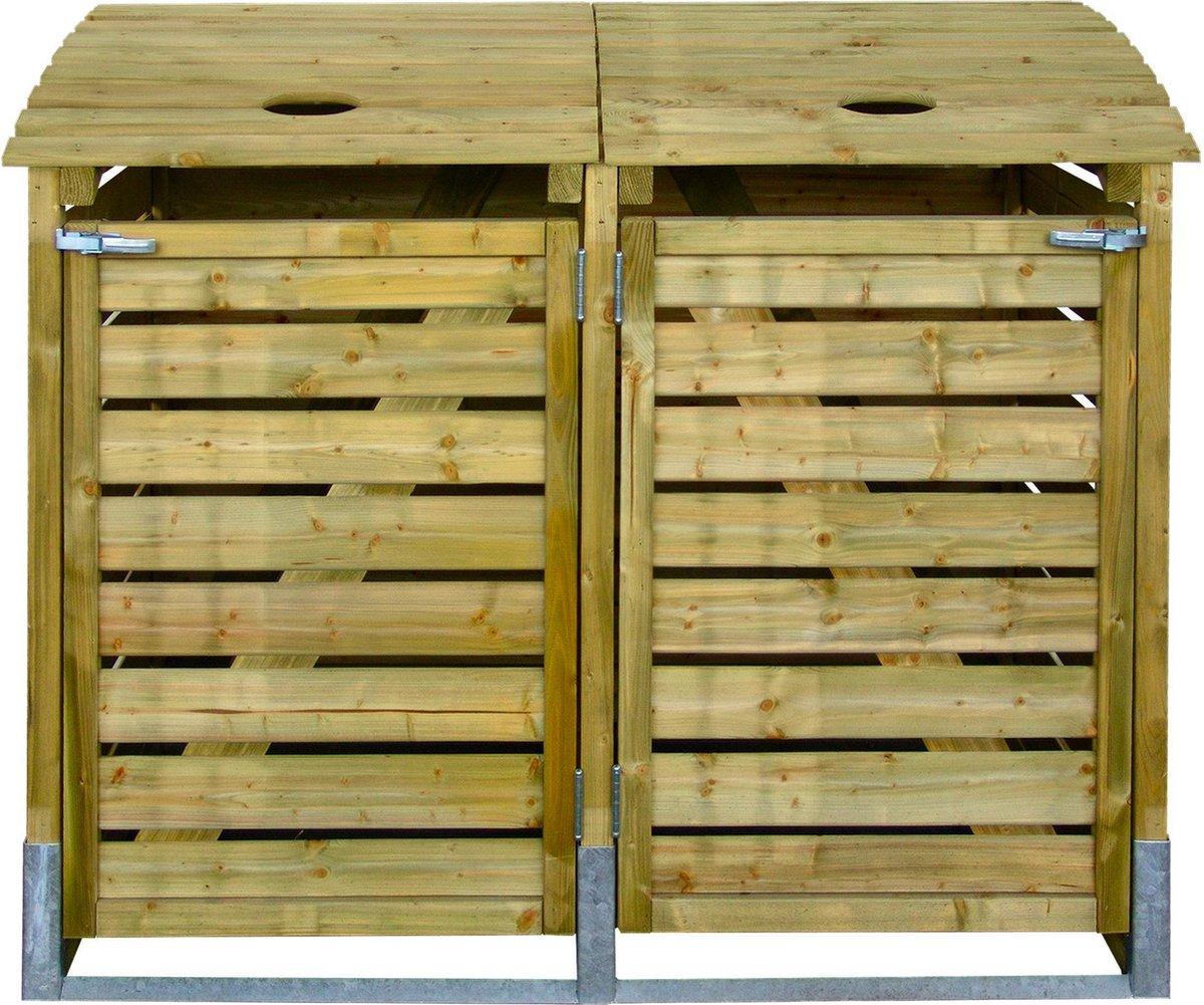 Intergard kliko ombouw klikoberging - afvalcontainer dubbel 150x122x90cm