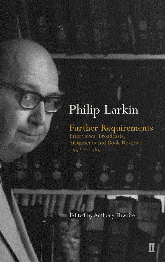 Boek cover Further Requirements van Philip Larkin (Onbekend)