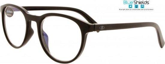 Icon Eyewear NFB350 +2.50 Figo BlueShields leesbril - blauw licht filter lens - Glanzend zwart