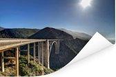 Bixby Creek Bridge in Big Sur Californië Poster 120x80 cm - Foto print op Poster (wanddecoratie woonkamer / slaapkamer)