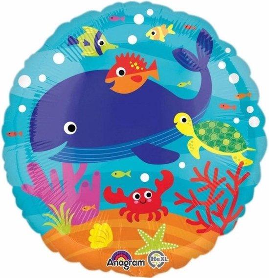 Helium ballon zeedieren 43 cm