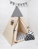 FUJL Tipi Tent - Speeltent - Wigwam - Zwart / Wit