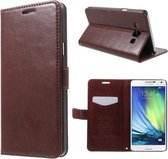 Kds PU Leather Wallet hoesje Samsung Galaxy Ace 4 bruin