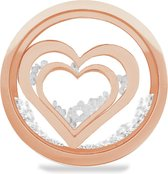 LOCKits 982501860 - Stalen glas munt - harten en kristallen - 20-2 mm - rosékleurig