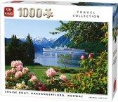 Afbeelding van King Puzzel 1000 Stukjes (68 x 49 cm) - Cruiseschip Noorwegen - Legpuzzel Schepen - Volwassenen