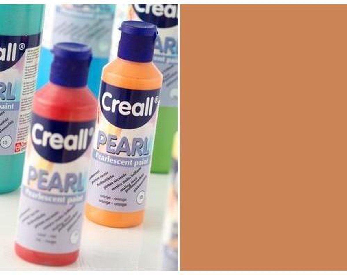 Creall Pearl - parelmoerverf bruin 1 Fles - 80 Mililiter 90615