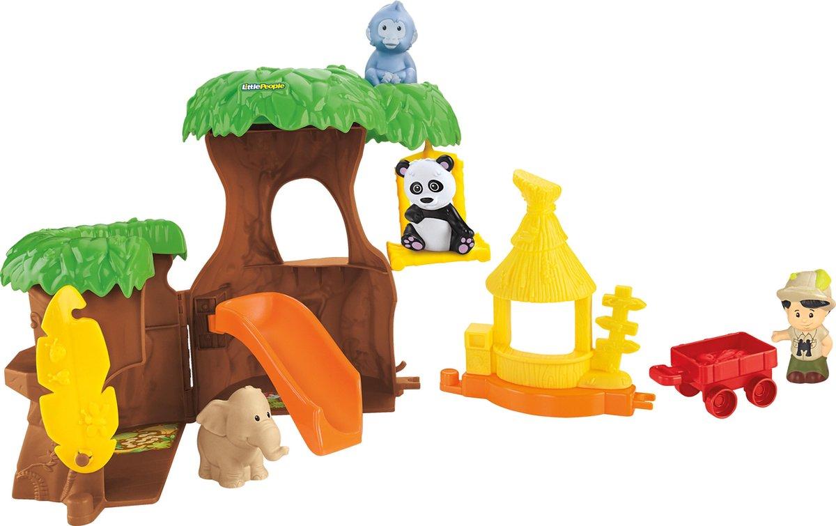 Fisher-Price Little People Dieren Boomhut - Speelfigurenset