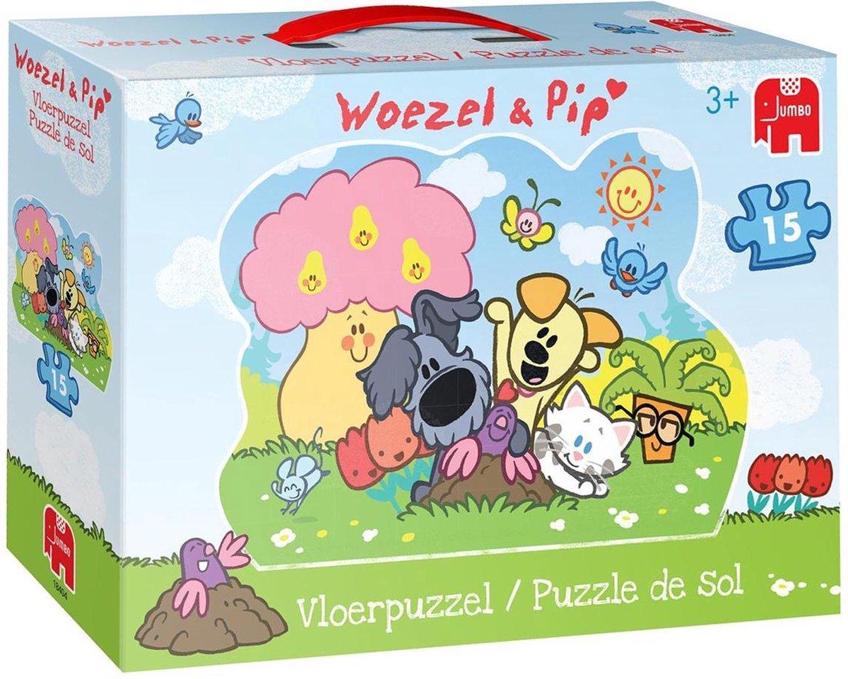 Woezel & Pip Vloerpuzzel 15 Stukjes - Jumbo