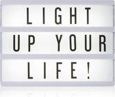 Smartwares lightbox - Wandlamp met schakelaar - 1 lichts - H 150 mm - Wit