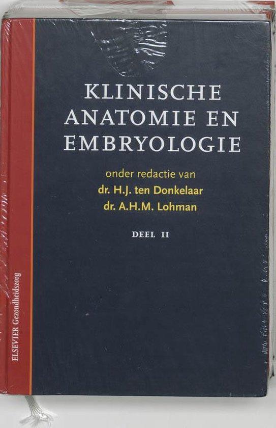 1 en 2 klinische anatomie en embryologie ( set van 2 delen) - H.J. ten Donkelaar |