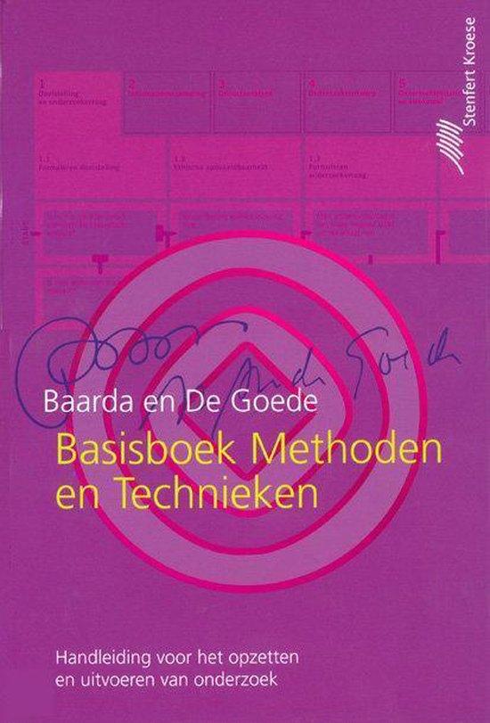 Basisboek methoden en technieken / druk 3 - D.B. Baarda |