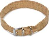 Beeztees Cork - Hondenhalsband - Leer - Naturel - 51-55 cm x 35 mm