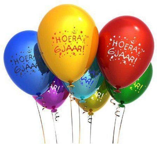 Benza - Leeftijd Ballonnen - 6 Jaar (12 stuks)