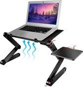 Universele Laptop Standaard - Opvouwbaar - Inklapbaar - 7 tot 16 inch - Portable Houder voor Macbook/iPad/Laptop/Tablet/E-reader - Stand voor op Tafel/Bureau/Bed/Schoot