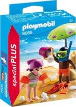 PLAYMOBIL Kinderen met zandkasteel  - 9085