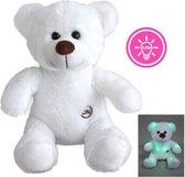 Teddybeer met ledlampjes -  25 cm - Licht gevende beer
