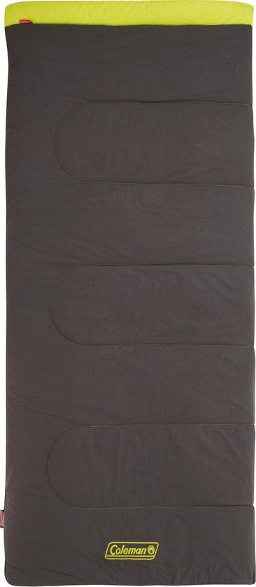 Coleman Heaton Peak Comfort 220 Slaapzak - 220 x 100 cm - Grijs/lime - Extra lang