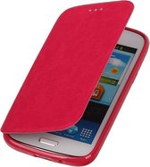 Polar Map Case Roze Samsung Galaxy Note 3 TPU Bookcover Hoesje