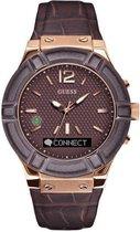 GUESS Watches Heren Horloge C0001G2 - leer - bruin - Ø 45 cm
