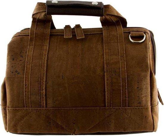 Kurk - tas - schoudertas - handtas - bruin - vegan – duurzaam - diervriendelijk