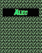 120 Page Handwriting Practice Book with Green Alien Cover Alec