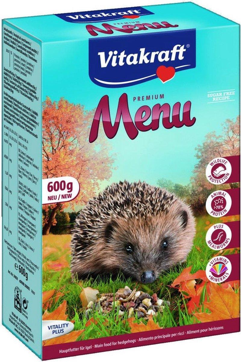 Vitakraft menu voor egel 600 gram adult