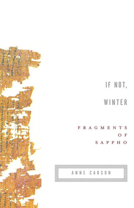 Boek cover If Not, Winter van Sappho (Onbekend)