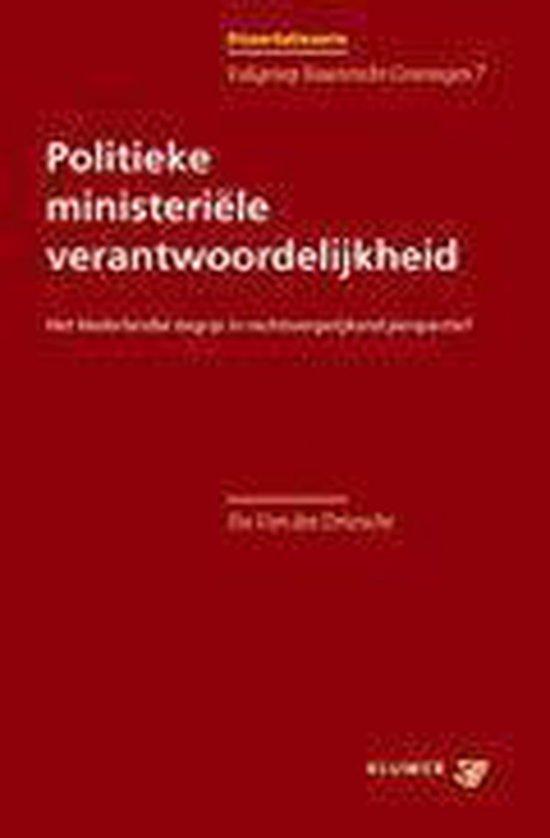 Politieke ministeriële verantwoordelijkheid - I.A. Van Der Driessche | Fthsonline.com