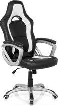 hjh office Gaming Zone Pro AB100 - Bureaustoel - Kunstleder - Zwart / wit