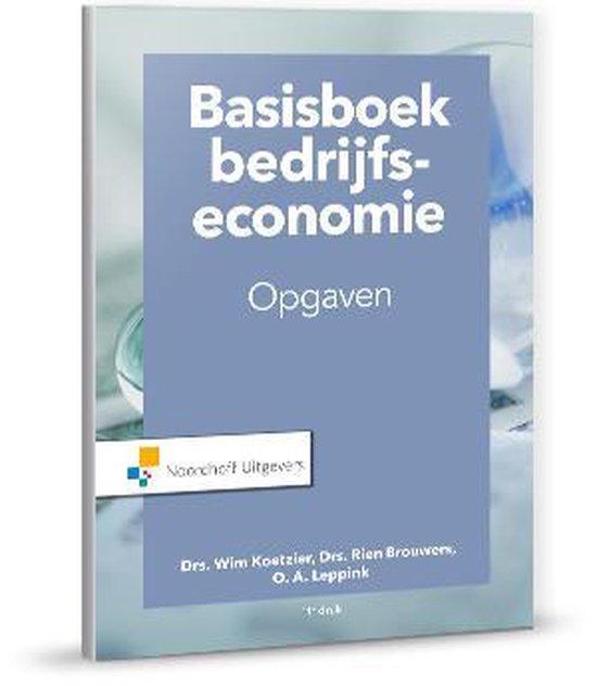 Basisboek Bedrijfseconomie - Rien Brouwers |