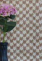 Wallpaper Queen breisel bruin tinten