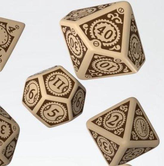 Thumbnail van een extra afbeelding van het spel Steampunk Clockwork Beige & brown Dice Set