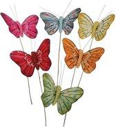 12 Stuks decoratie vlinders 5 cm
