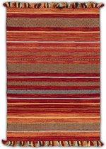 OSTA Medina – Vloerkleed – Tapijt – geweven – wol – eco – duurzaam - modern - boho - Multi/Rood - 200x290