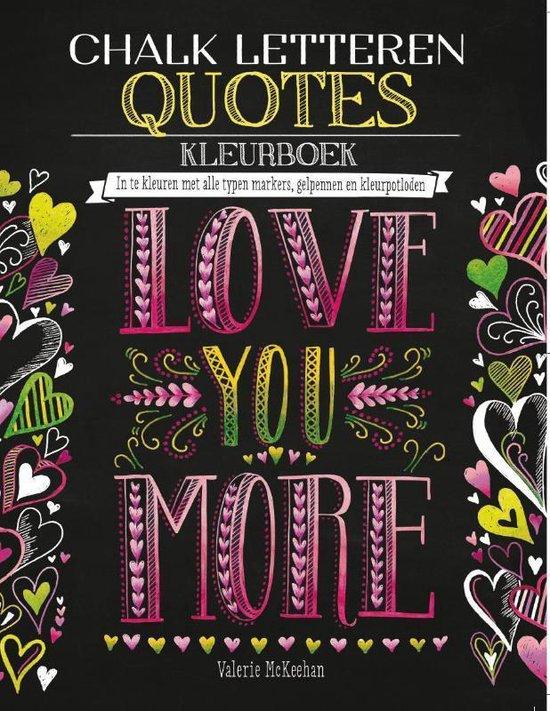 Chalk letteren Quotes kleurboek - McKeehan, Valerie | Readingchampions.org.uk