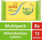 Zwitsal Billendoekjes Lotion - 8 x 72 st - Baby - Voordeelverpakking