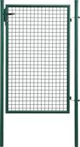 Tuinpoort hekwerk poort enkel 200x106 cm groen