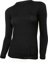 Brubeck | Dames Thermo Active Ondershirt met Merino Wol - Naadloos -  Lange Mouw-Zwart-L