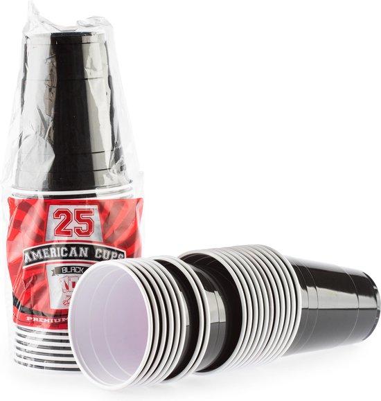 Thumbnail van een extra afbeelding van het spel 100 Black Cups American original - 500ml Zwarte Party Bekers - Beer Pong