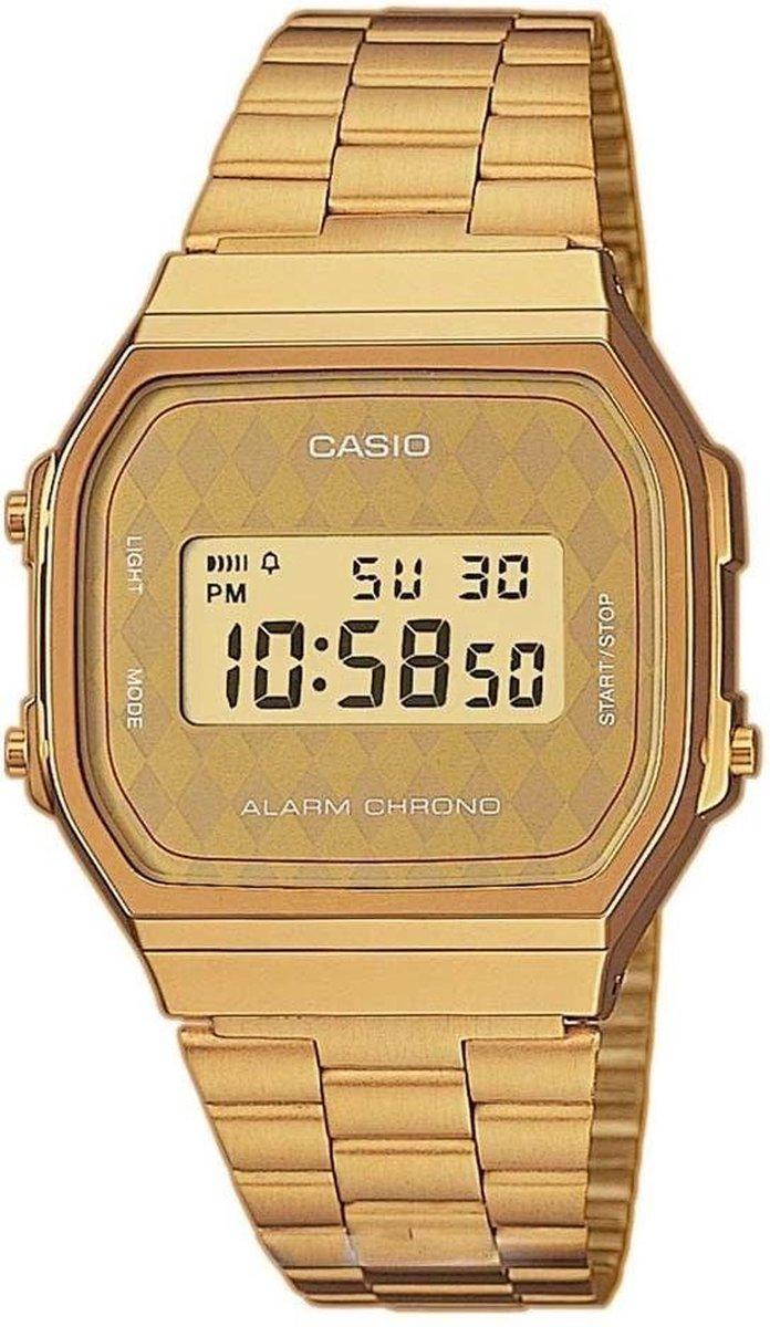Casio A168WG-9BWEF horloge dames en heren - goud - kunststof