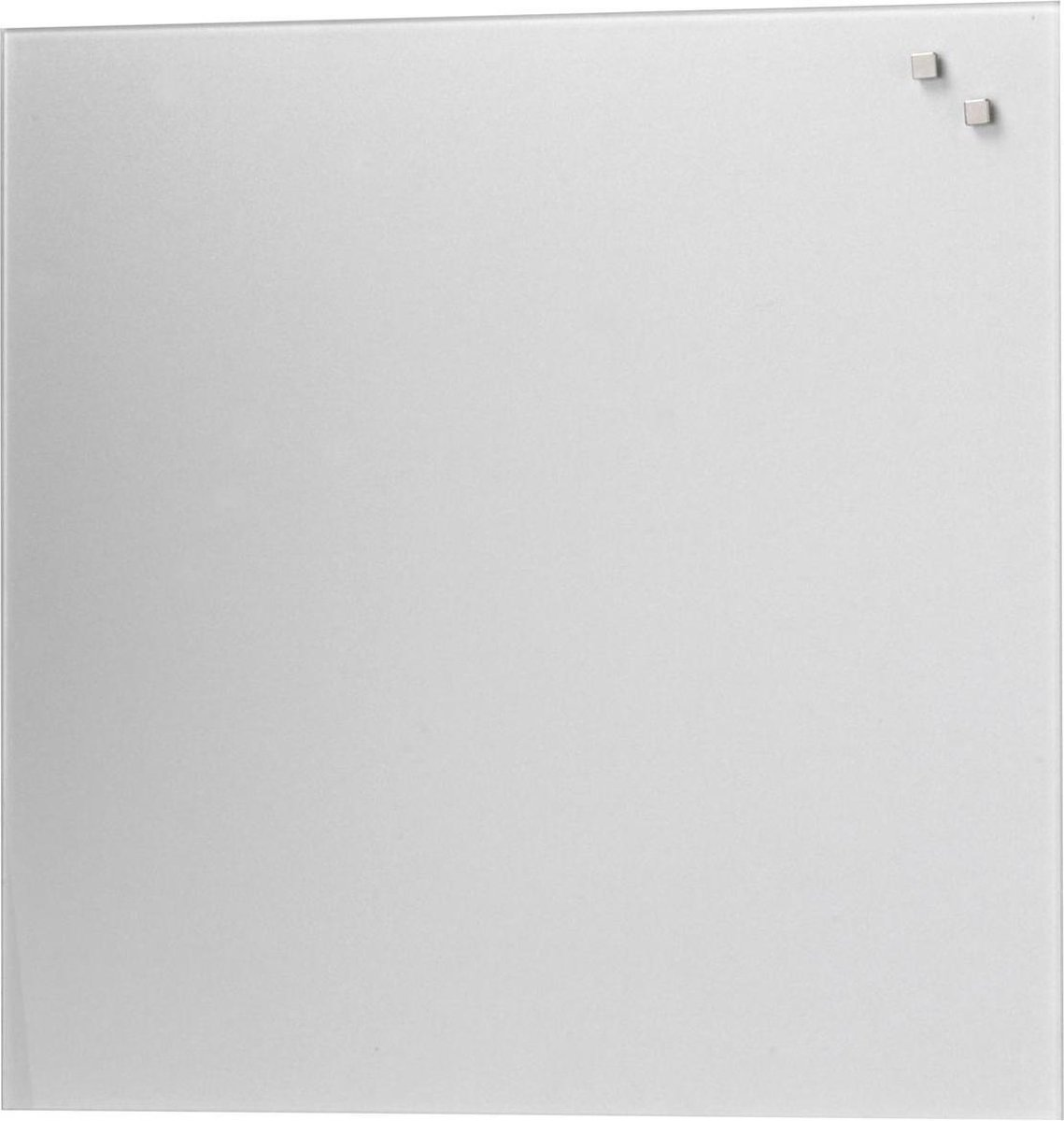 NAGA Glassboard 45x45cm Zilver