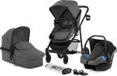 Kinderkraft Juli 3 in 1 Kinderwagen - Inclusief Autostoel - Grey