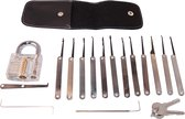 Phonaddon Lock Pick Set 19 Delig Doorzichtig Slot 12 Picks en Hoes